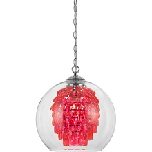 Glitzy Chandelier in Hot Pink - 9101-1H