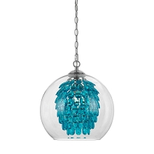 Glitzy Chandelier in Turquoise - 9102-1H