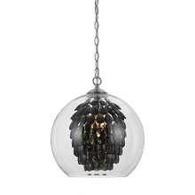 Glitzy Chandelier in Smoked Crystal - 9103-1H