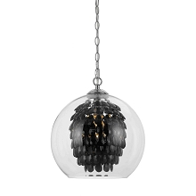 Glitzy Chandelier in Black Crystal - 9104-1H