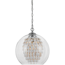 Glitzy Chandelier in White - 9105-1H