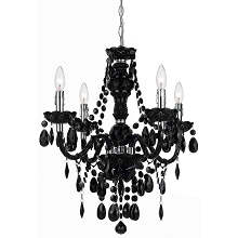 AF Lighting Naples 4-Light Mini Chandelier in Opaque Black - 9107-4H