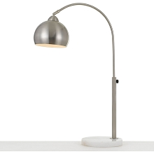 AF Lighting Orb Table Lamp with Metal Globe in Brushed Nickel - 9118-TL