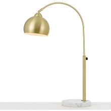 AF Lighting Orb Table Lamp with Metal Globe in Brushed Gold - 9119-TL