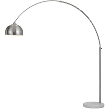 AF Lighting Orb Floor Lamp with Metal Globe in Brushed Nickel - 9120-FL
