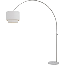 AF Lighting Arched Floor Lamp in Brushed Nickel with Fabric Shade - 9124-FL