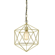 AF Lighting Bellini One-Light Chandelier in Brushed Gold - 9129-1H