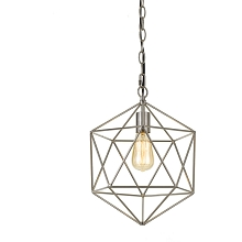 AF Lighting Bellini One-Light Chandelier in Brushed Nickel - 9130-1H
