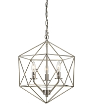 AF Lighting Bellini Three-Light Chandelier in Brushed Nickel - 9132-3H