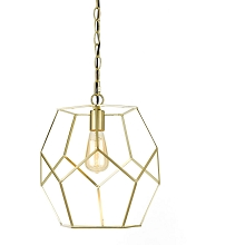 AF Lighting Bellini One Light Pendant in Brushed Gold - 9133-1P