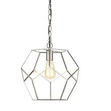 AF Lighting Bellini One-Light Pendant in Brushed Nickel - 9134-1P