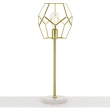 AF Lighting Bellini Table Lamp in Brushed Gold - 9135-TL