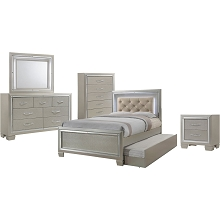 Elegance 5PC Full-Size Bedroom Suite - 98117A5FT1-CM