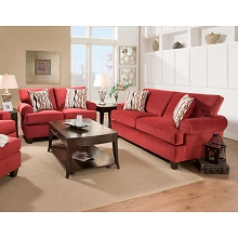 Cambridge Easton Loveseat in Red - 98523LV-RED