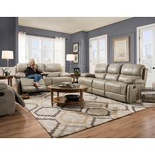 Cambridge Austin 2-Piece Living Room Set: Sofa and Loveseat - 98525A2PC-GR