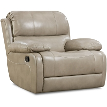 Cambridge Austin Leather Rocker Recliner in Putty - 98525RR-GR