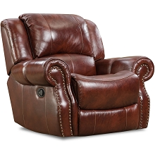 Cambridge Telluride Leather Rocker Recliner in Oxblood - 98528RR-OB