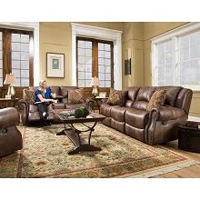 Cambridge Stratton Three Piece Living Room Set: Sofa, Loveseat and Recliner - 98529A3PC-CO
