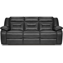 Cambridge Alpine Double Reclining Sofa in Black - 98530DRS-BK