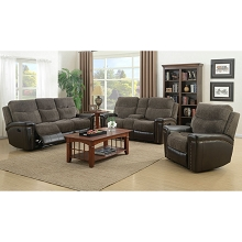 Cambridge Modena 3 Piece Living Room Set: Sofa, Loveseat and recliner - 98532A3PC-BR