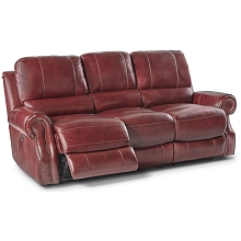 Cambridge Rustic Double Reclining Sofa - 98533DRS-WINE