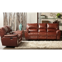 Cambridge Charleston 2-Piece Living Room Set: Sofa and Loveseat - 98535A2PC-BR