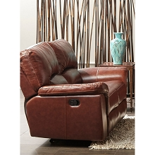 Cambridge Charleston Power Double Reclining Leather Loveseat - 98535DRL-BR
