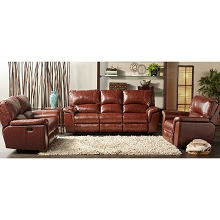 Cambridge Charleston Power Double Reclining Leather Sofa - 98535DRS-BR
