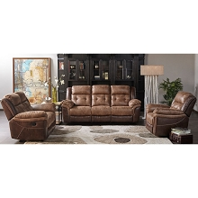 Cambridge Hawk Three Piece Living Room Set: Sofa, Loveseat and Recliner - 98537A3PC-BR