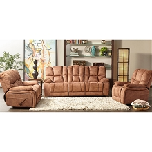 Cambridge Wolf Creek Three Piece Living Room Set: Sofa, Loveseat and Recliner - 98538A3PC-TN