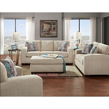 Cambridge Chamberlain Four-Piece Living Room Set: Sofa, Loveseat, Extra-Large Chair and Cocktail Ottoman - 98540A4PC-TN
