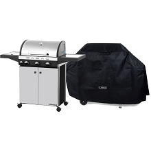 Cadac Stratos 3 Stainless Steel Gas Range Grill & Grill Cover - 98700-33-01/CVR-KIT