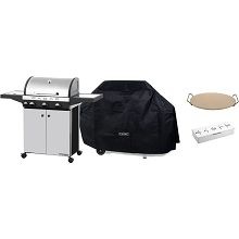 Cadac Stratos 3 Stainless Steel Gas Range Grill, Grill Cover, Smoker Box & 13