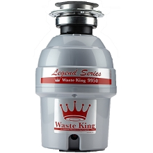 Waste King Legend Series 3/4 HP Professional 3-Bolt Mount Sound Insulated Garbage Disposer - 9950