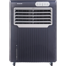 Honeywell 588 CFM Indoor/Outdoor Evaporative Air Cooler in Gray/White - CO70PE