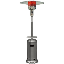 Hanover 7-Ft. 48,000 BTU Steel Umbrella Propane Patio Heater in Stainless Steel, H003SS