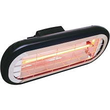Hanover Electric Halogen Infrared Heat Lamp for Hanging or Mounting, Black, HAN1001HA-BLK
