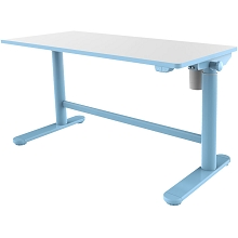 Hanover 20-In. Wide Electric Blue Stand or Sit Desk for Children with Adjustable Height for School, Crafts, and Writing Stations, HCR001DSK-BLU