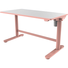 Hanover 20-In. Wide Pink Electric Stand or Sit Desk for Children with Adjustable Height for School, Crafts, and Writing Stations, HCR001DSK-PINK
