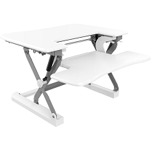 Hanover 22-In. Wide White Tabletop Sit or Stand Lift Desk with Adjustable Height for Offices, Schools, and Writing Stations, HSD0401-WHT1