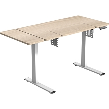 Hanover 24-In. Wide Natural Wood Electric Sit or Stand Sewing or Work Desk with Adjustable Heights, HSD0410-NAT