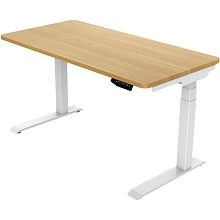 Hanover 55-In. Assembled Sit or Stand Electric Desk with Adjustable and Programmable Heights, Natural, HSD0421-NAT