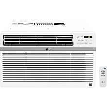 LG 10,000 BTU 115V Window-Mounted Air Conditioner with Remote Control - LW1016ER