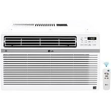 LG Energy Star 10,000 BTU 115V Window-Mounted Air Conditioner with Wi-Fi Control, LW1017ERSM
