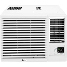 LG 7,500 BTU 115V Window-Mounted Air Conditioner with 3,850 BTU Supplemental Heat Function, LW8016HR