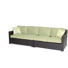 Metropolitan 2PC Loveseat Set in Avocado Green - METRO2PC-B-GRN