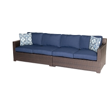 Metropolitan 2PC Loveseat Set in Navy Blue - METRO2PC-B-NVY