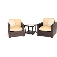 Metropolitan 3PC Chat Set in Sahara Sand - METRO3PC-B-TAN