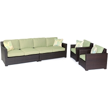 Metropolitan 4PC Lounge Set in Avocado Green - METRO4PC-B-GRN