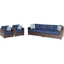 Metropolitan 4PC Lounge Set in Navy Blue - METRO4PC-B-NVY